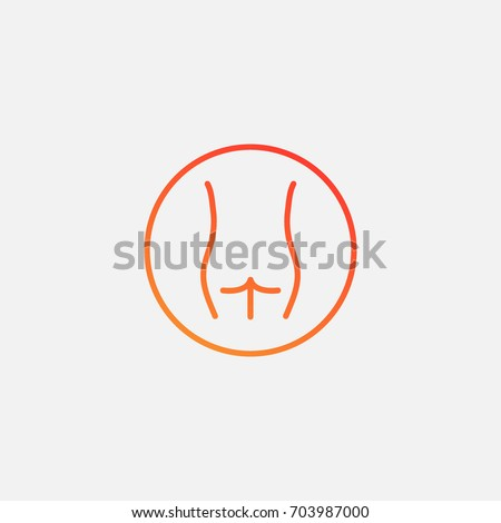Butt icon.gradient illustration isolated vector sign symbol