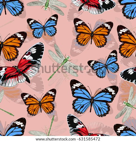butterflies and dragonflies