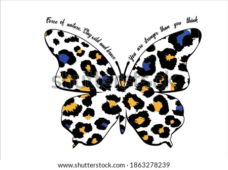 butterflies and leopard positive quote flower design margarita  mariposa stationery,mug,t shirt,phone case fashion slogan  style spring summer sticker and etc fashion Tawny Orange Monarch Butterfly