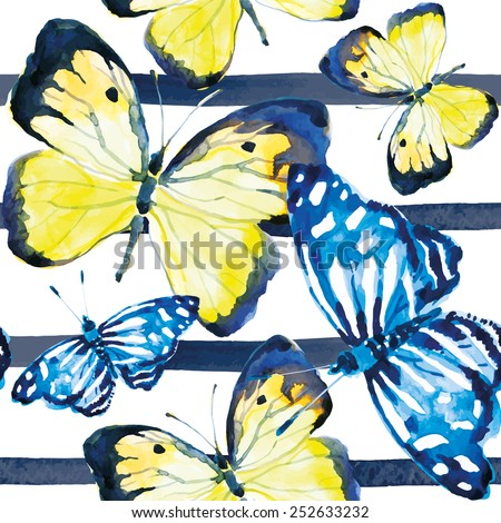 butterflies on the striped