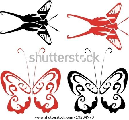 Butterflies.  Vector illustration.