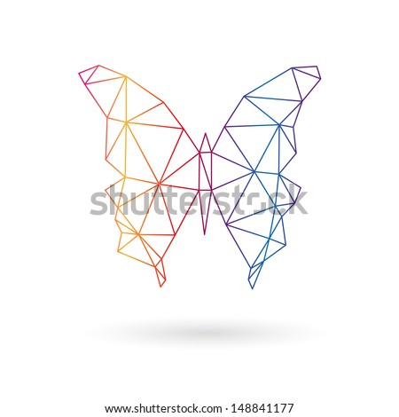 Butterfly abstract isolated on a white backgrounds. Vector illustration