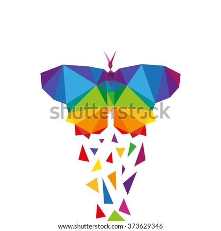 butterfly abstract triangle