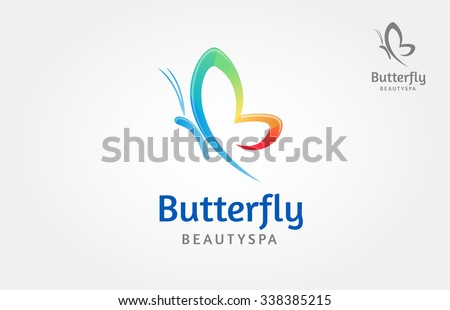 Butterfly Beauty Spa Vector Logo Template, this logo symbolize, some thing beautiful, soft, calm, nature, metamorphosis, graceful, and elegant.