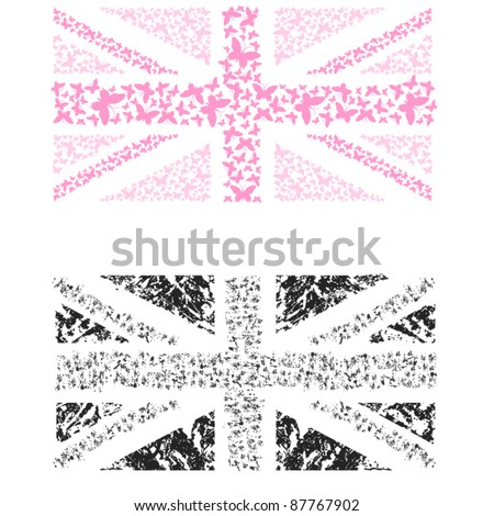 Butterfly British Flag