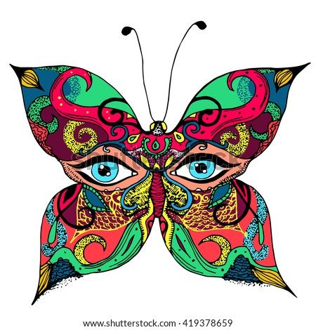 butterfly cabareth woman eyes