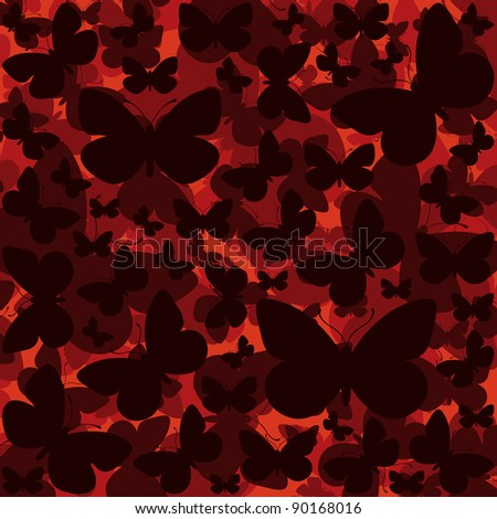Butterfly colorful romantic illustration background