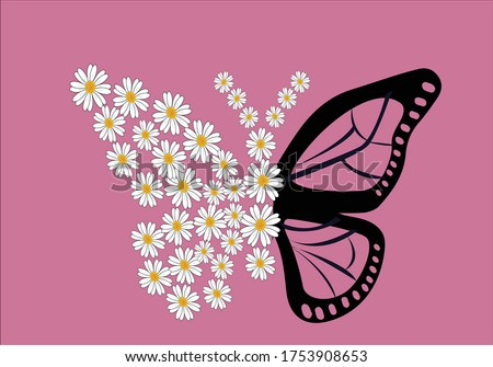 butterfly daisy flower free soul vectorstar daisy with positive quote paris daisy lettering design vector accessories, background, banner, blossom, calligraphy, clothe, daisy, stationary,fashion