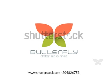 Butterfly Fashion vector logo design template InsectCreative Beauty Spa Cosmetics icon