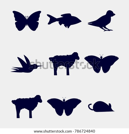 butterfly icon, animals icon set