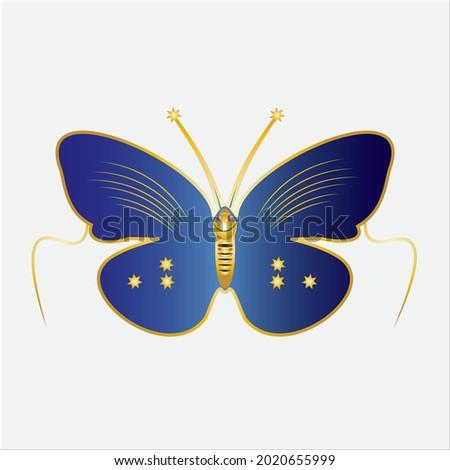 butterfly icon in dark blue