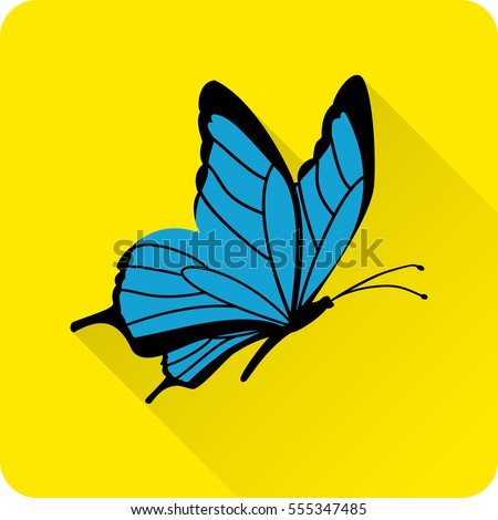 butterfly icon in flat style