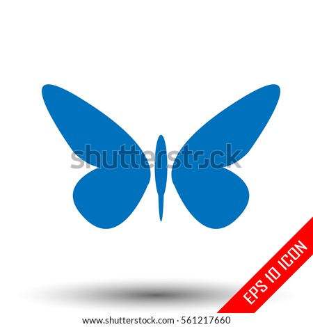 butterfly icon simple flat