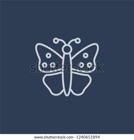 butterfly icon trendy flat