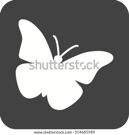 Butterfly, insect, wings icon vector image. Can also be used for Animals and Insects. Suitable for mobile apps, web apps and print media.