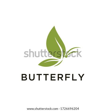 butterfly   leaf logo design