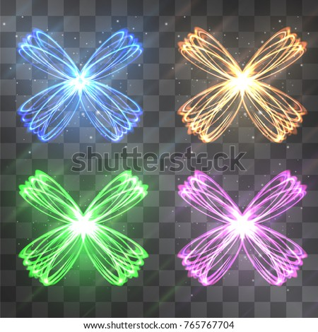 butterfly light effect vector