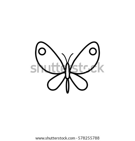 butterfly line icon  spring