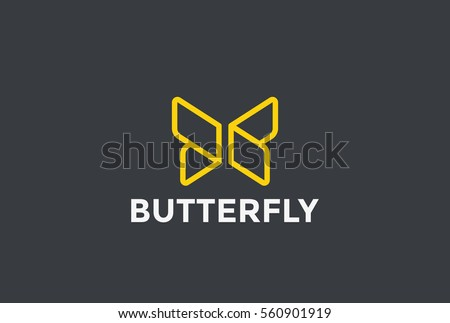 butterfly logo geometric design