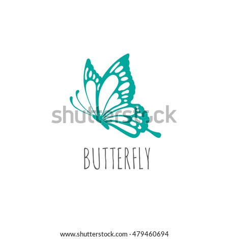 butterfly logo graphic design concept. Editable butterfly element, can be used as logotype, icon, template in web and print