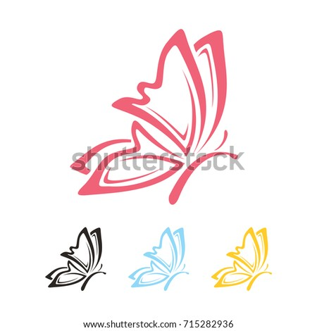 butterfly logo vector eps 10