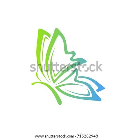 butterfly logo vector eps 10