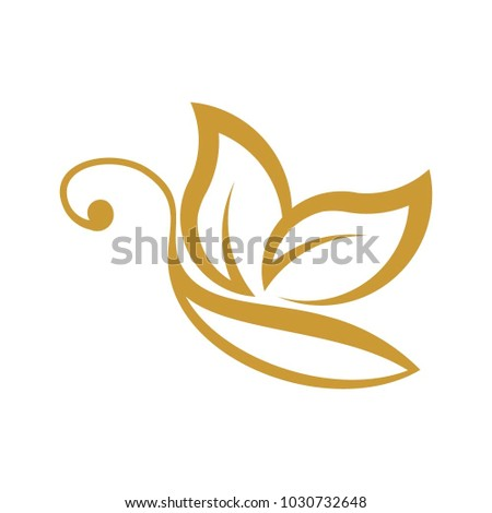 Butterfly logo, vector logo template