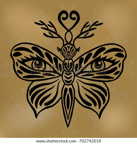 butterfly mask vector