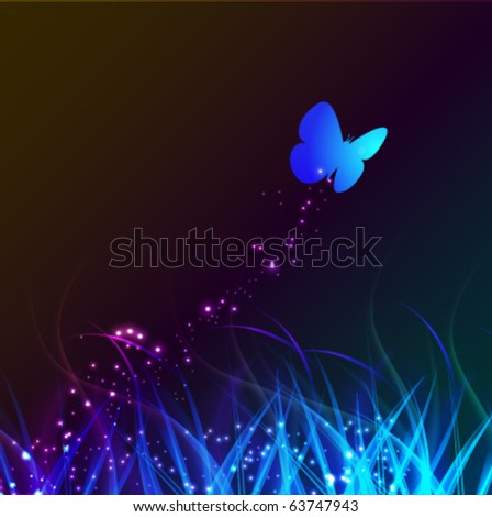 butterfly on the abstract