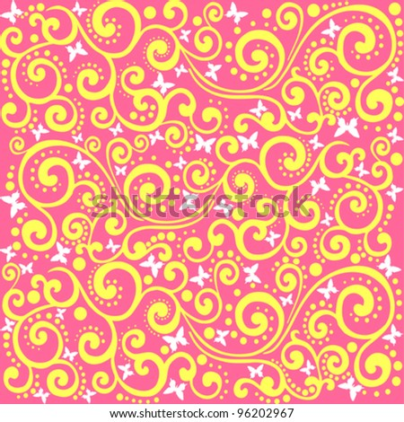 Butterfly seamless pattern. Vector Illustration