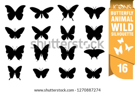 stock-vector-butterfly-silhouette-set