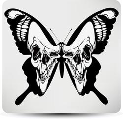 Butterfly skull. Vector illustration.