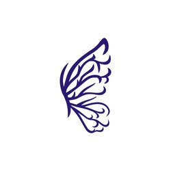 butterfly tribal style vector illustration