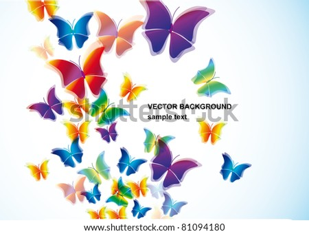 Butterfly vector background.