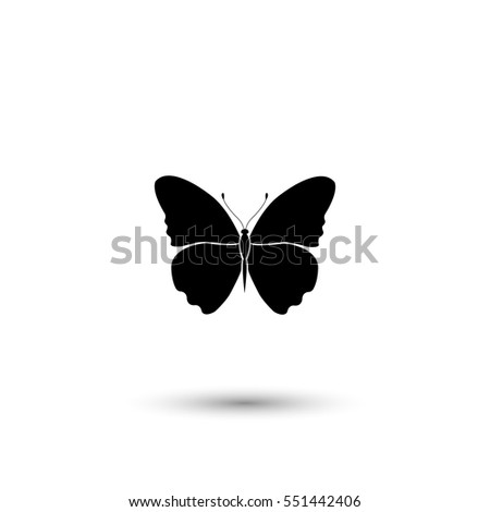 butterfly vector icon with