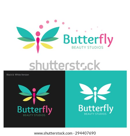 butterfly vector logo design