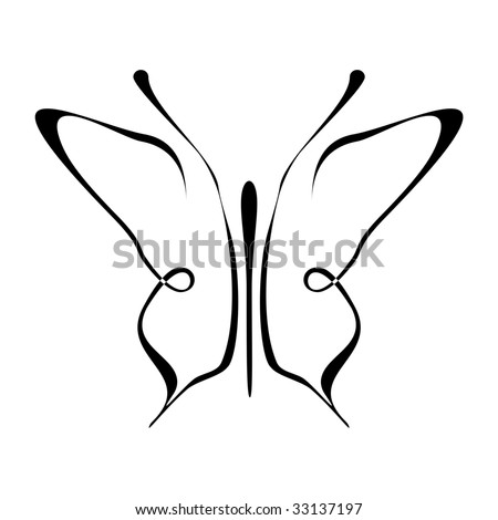 Stock vector butterfly vector tattoo design element decoration