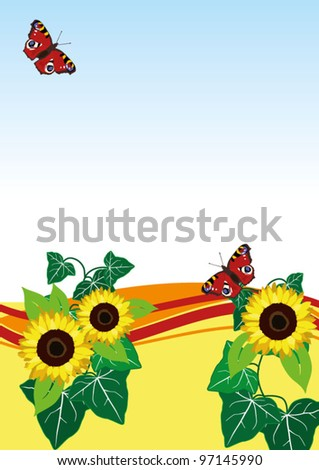 butterfly wave - stock vector