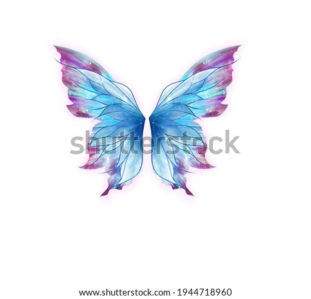 butterfly wings hand painting