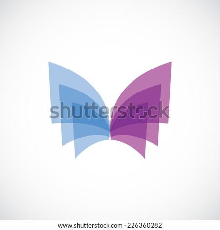 butterfly wings logo template
