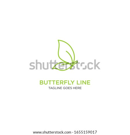 butterfly with monoline or line