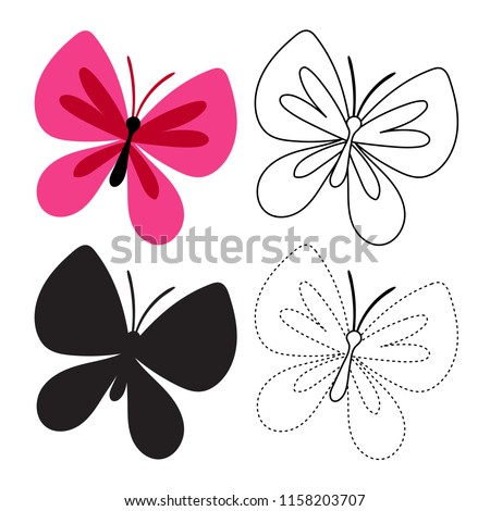stock-vector-butterfly-worksheet-vector-design