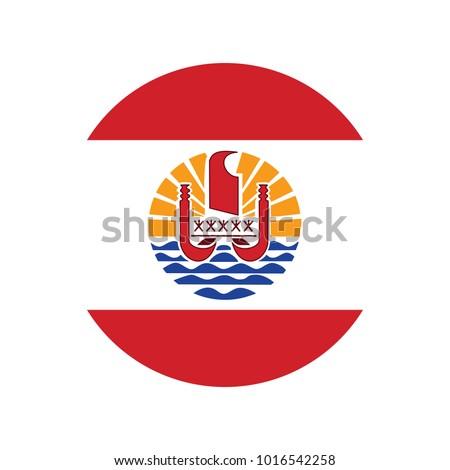 button flag of french polynesia
