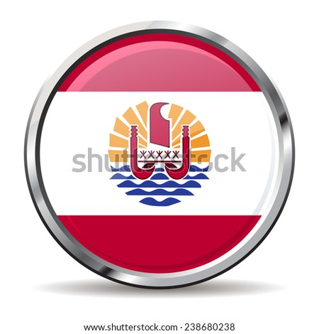 button flag of french polynesia