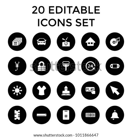 button icons set of 20