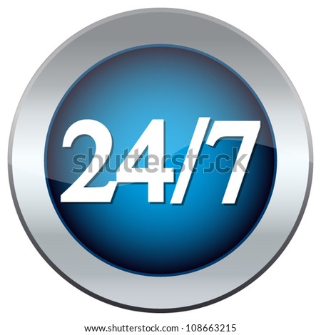 "button labeled ""24/7''"
