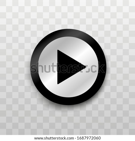 Button. Play button. Play video. Vector illustration icon button.
