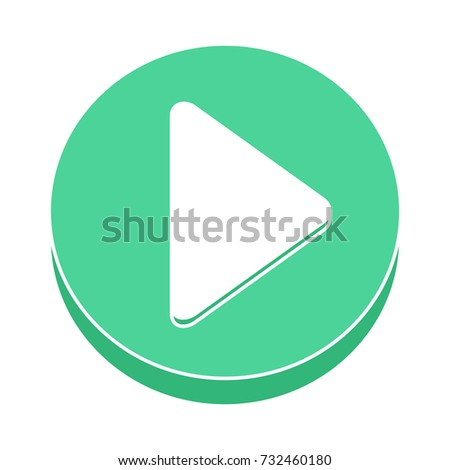 button play flat icon