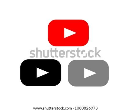 Button Play Video Icon vector