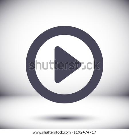 button player vector icon #1192474717
